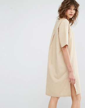 photo Sami V-Neck Safari Dress by Samsoe & Samsoe, color Beige - Image 2