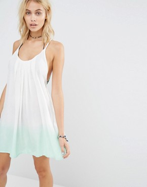 photo Ombre Beach Dress by Surf Gypsy, color Ivory/Mint - Image 2