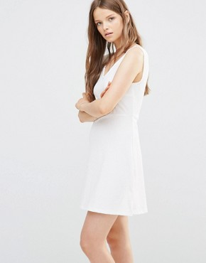 photo Skater Dress in White by JDY, color Cloud Dancer - Image 1