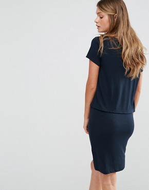 photo Double Layer Dress by JDY, color Navy - Image 2