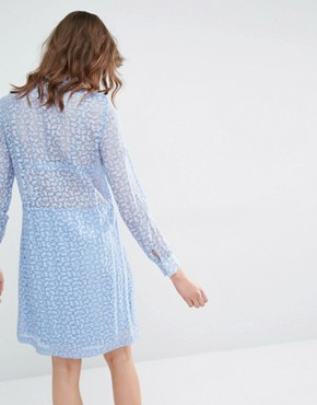 photo Dress with Bunny Print by Paul & Joe Sister, color Blue - Image 2