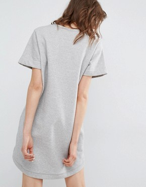 photo Oiseline Grey Sweatshirt Dress with Embroidery by Paul & Joe Sister, color Grey - Image 2