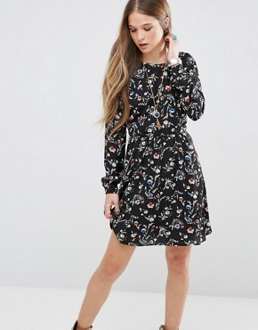 photo Mabel Floral Dress by Pepe Jeans, color Black - Image 1