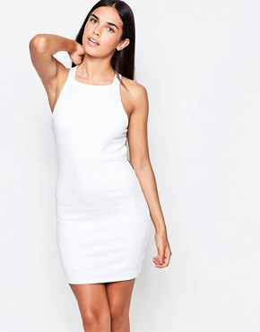 photo Bodycon Dress with Harness Back Detail by Rare, color White - Image 2
