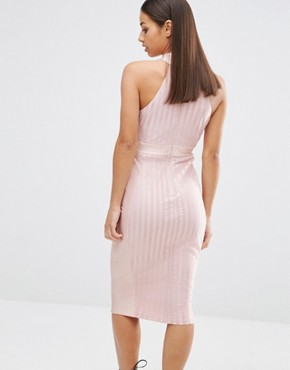 photo Highneck Sleeveless Pencil Dress by NaaNaa Petite, color Blush - Image 2