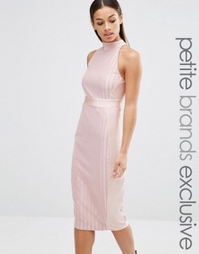 photo Highneck Sleeveless Pencil Dress by NaaNaa Petite, color Blush - Image 1