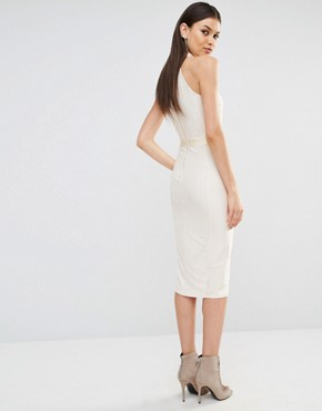 photo Highneck Sleeveless Pencil Dress by NaaNaa Tall, color Champagne - Image 2