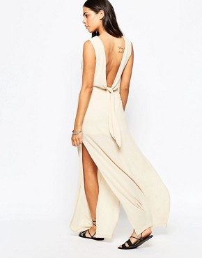 photo Over Exposed Maxi Dress by Goldie, color Beige - Image 2