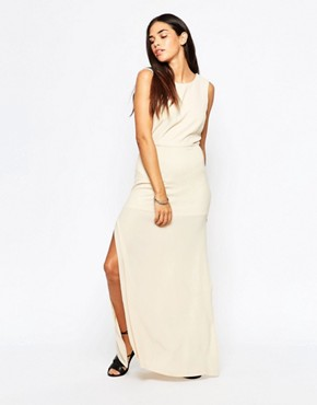 photo Over Exposed Maxi Dress by Goldie, color Beige - Image 1