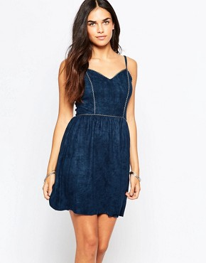 photo Sadie Dress in Suedette by Goldie, color Navy - Image 1