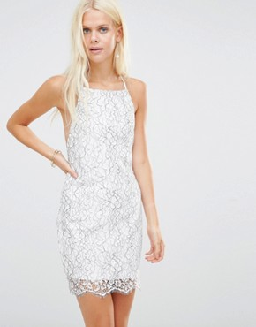 photo Midnight Lace Slip Dress by WYLDR, color Multi - Image 1