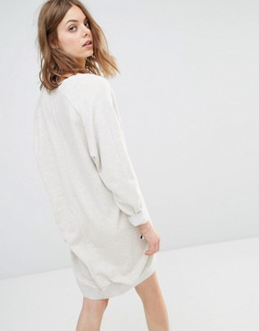 photo Oversized Sweat Dress by Maison Scotch, color Cream - Image 2