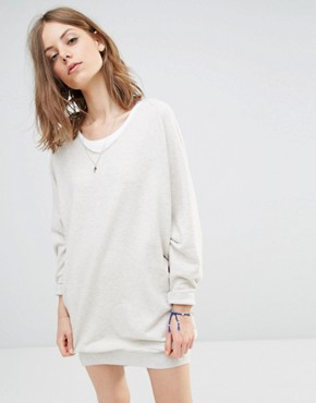 photo Oversized Sweat Dress by Maison Scotch, color Cream - Image 1
