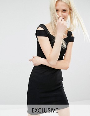 photo Exclusive Pinny Dress by Monki, color Black - Image 1