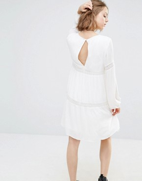 photo Tiered Gypsy Dress by First & I, color Pristine - Image 2