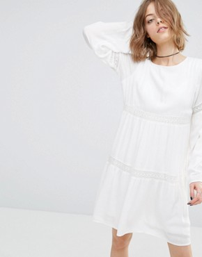photo Tiered Gypsy Dress by First & I, color Pristine - Image 1