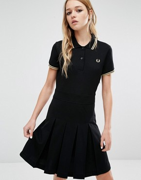 photo Reissue Trico Dress by Fred Perry, color Black - Image 1