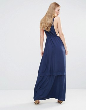 photo Pinafore Maxi Dress by BCBGeneration, color Dark Navy - Image 2
