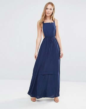 photo Pinafore Maxi Dress by BCBGeneration, color Dark Navy - Image 1