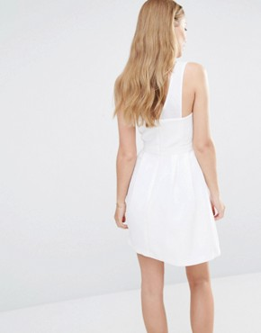 photo Lace Insert Dress by BCBGeneration, color Optic White - Image 2