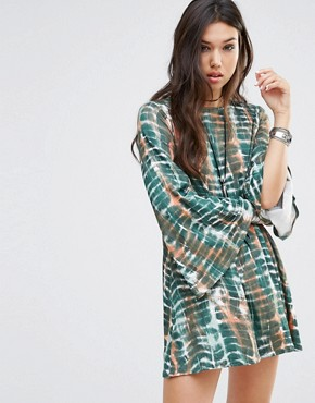 photo Swing Dress with Bell Sleeve and Scoop Back by Rokoko, color Multi - Image 1