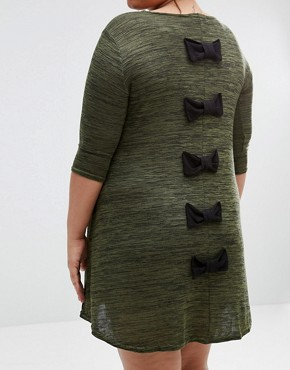 photo Swing Dress with Bow Back by Praslin Plus, color Green - Image 2