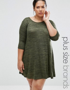 photo Swing Dress with Bow Back by Praslin Plus, color Green - Image 1