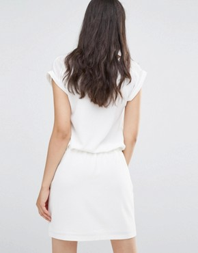 photo White Dress with V Insert by Soaked in Luxury, color Lilly White - Image 2