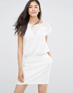 photo White Dress with V Insert by Soaked in Luxury, color Lilly White - Image 1