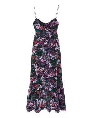 photo Inga Floral Slip Dress by Saloni 1487F16, Bougainvillea color - Image 2