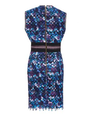 photo Trudi Sleeveless Mini Dress by Saloni 1512F16, Blue color - Image 2