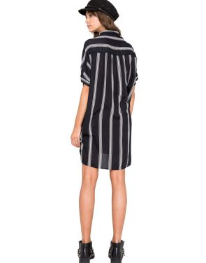 photo Sundown Stripe Dress by Amuse Society AD13BSUNF16, Black color - Image 2