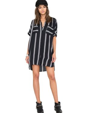 photo Sundown Stripe Dress by Amuse Society AD13BSUNF16, Black color - Image 1