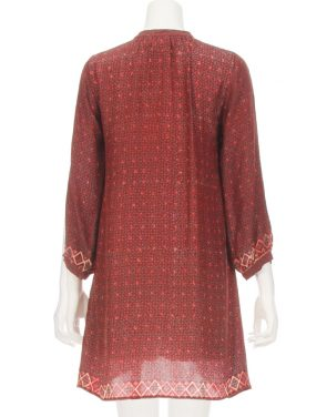 photo Sammi Long Sleeve Tunic Dress by Natalie Martin C008F16, Wine color - Image 2
