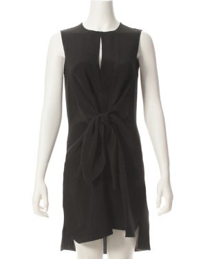 photo Sleeveless Knot Front Silk Dress by 3.1 Phillip Lim E1719369CDCF16, Black color - Image 1