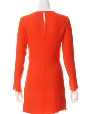 photo Long Sleeve Knot Front Dress by 3.1 Phillip Lim E1719762SGGF16, Red Poppy color - Image 2