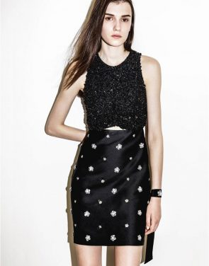 photo Cluster Sequin Embroider Dress by 3.1 Phillip Lim H1619535CLUF16, Black color - Image 2