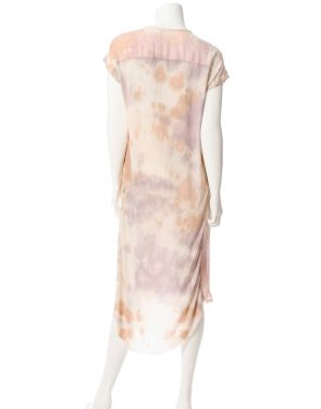 photo Shirred Combo Dress by Raquel Allegra Y64-6406F16, Rose Quartz Tie Dye color - Image 2