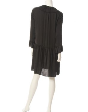 photo Ruffle Neck Dress by Raquel Allegra Y66-6469F16, Black color - Image 2