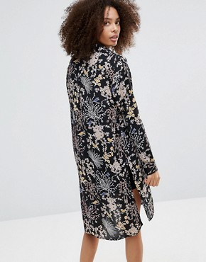 photo Floral Shirt Dress by Only, color Black - Image 2