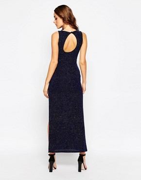 photo Sparkle Maxi Dress in Glitter Fabric by Sistaglam, color Blue - Image 2
