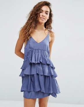 photo Kade Tiered Ruffle Dress by d.RA, color Blue - Image 1