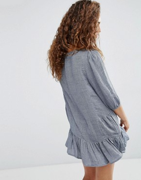 photo Lyon Dress with Drop Hem by d.RA, color Grey - Image 2