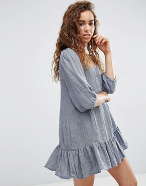 photo Lyon Dress with Drop Hem by d.RA, color Grey - Image 1