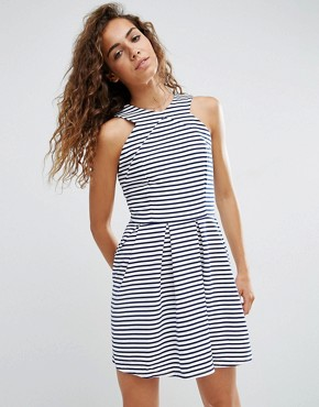 photo Rosalie Striped Skater Dress by d.RA, color Parisienne Stripe - Image 1