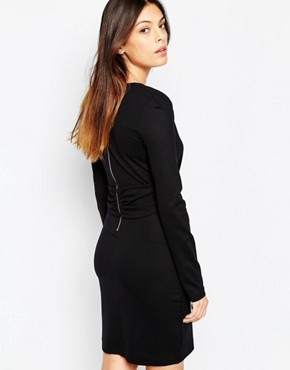photo Valentine Viscose Rouched Dress by French Connection, color Black - Image 2