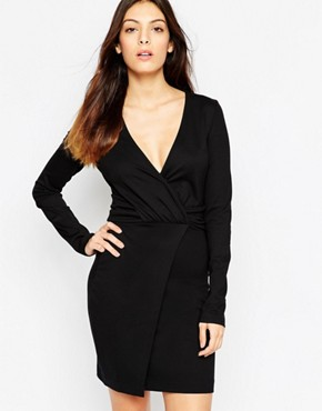 photo Valentine Viscose Rouched Dress by French Connection, color Black - Image 1