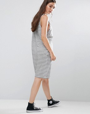 photo Collapse Dress Multistripe by Cheap Monday, color White - Image 2