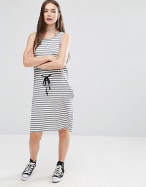 photo Collapse Dress Multistripe by Cheap Monday, color White - Image 1