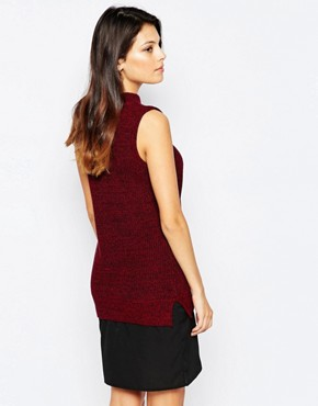 photo Hendy High Neck Jumper Dress by French Connection, color Red - Image 2